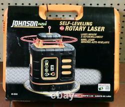 New Johnson 40-6539 Kit Laser Rotatif À Nivellement Automatique Rouge