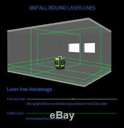 Niveau Laser 16 Lignes 4d Autolissants 360 Degre Rotary Vertical Vert