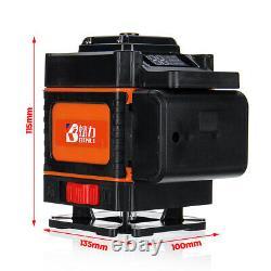 Niveau Laser 3d 16/12 Affichage Led De Ligne 360° Mesure D'auto-niveautage Rotative Us