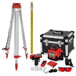 Niveau Laser Rotatif De Gamme Automatique Autolissants Faisceau Rouge Withtripod Personnel