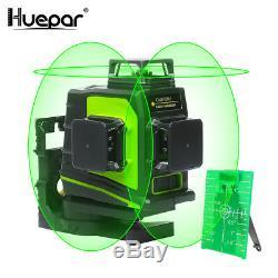 Niveau Laser Rotatif Vert 12 Lignes 3d Cross Laser Line Autolissant Outil De Mesure
