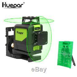Niveau Vert Laser Rotatif Cross Laser Line Autolissant 902cg Huepar 8 Lignes