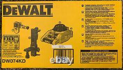 Nouveau Dewalt Dw074kd Intérieur Et Extérieur Auto Nivellement Laser Rotatif Avec Accessoires