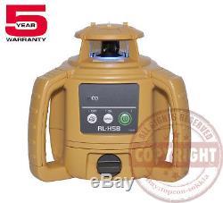 Nouveau! Topcon-h5b Auto Rl Nivellement Niveau Laser Rotatif Package, Transit, H4c-rl, Inch