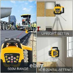 Samger Auto-niveau 360° Rotation Rotation Rouge Niveau Laser Gamme 500m Kit D'outils