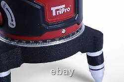 Self Levelling Cross Rotary Green Laser Level Multi 5 Lignes Plumb Dot Trépied