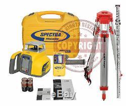 Spectra Precision Ll300n Ensemble Autolissant Niveau Laser Rotatif, Transit, Topcon