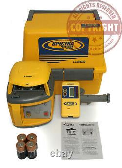 Spectra Precision Ll600 Auto-nivellement Niveau Laser Rotatif, Transit, Topcon, Trimble