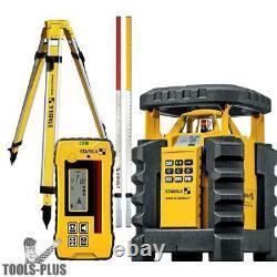 Stabila 05700 Dual Slope Rotary Laser Kit Withtripod And Elevation Rod Nouveau