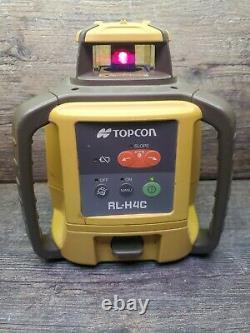Topcon Rl-h4c Niveau Laser Rotatif Auto-nivelage, Seulement Pour Les Pièces Ou Les Réparations