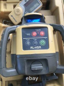 Topcon Rl-h5a Auto Nivellement Niveau Laser Rotatif