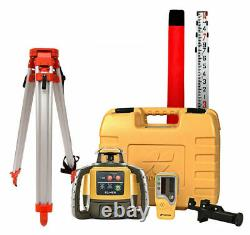 Topcon Rl-h5a Auto-nivellement Rotary Grade Laser Level W Trépied Et 14' Rod Inches