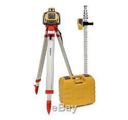 Topcon Rl-h5a Laser Rotatif Kit Autolissant 16' Pouces Grade Rod Et Trépied