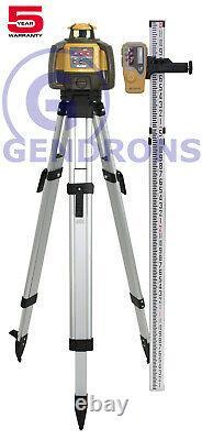 Topcon Rl-h5a Niveau Du Laser À Pente Rotative À Auto-échelonnement + Trépied Et Tige De Nivellement