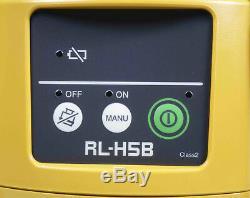 Topcon Rl-h5b Autolissants Laser Rotatif Horizontal Kit De Niveau Avec Ls-80l Récepteur