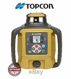 Topcon Rl-sv2s Double Pente Autolissants Rotatif Niveau Laser Niveau