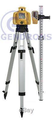 Topcon-h5b Auto Rl Nivellement Niveau Laser Rotatif + Trépied Et Grade Rod 10