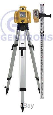 Topcon-h5b Auto Rl Nivellement Niveau Laser Rotatif + Trépied Et Grade Rod, Inch