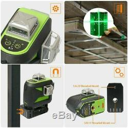Us 3d Faisceau Vert 12 Cross Ligne Niveau Laser Rotatif Autolissant 4 ° ± 1 ° Outil